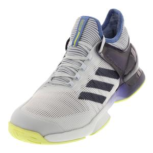 Men`s Adizero Ubersonic 2.0 Tennis Shoes Blue Tint and Noble Ink