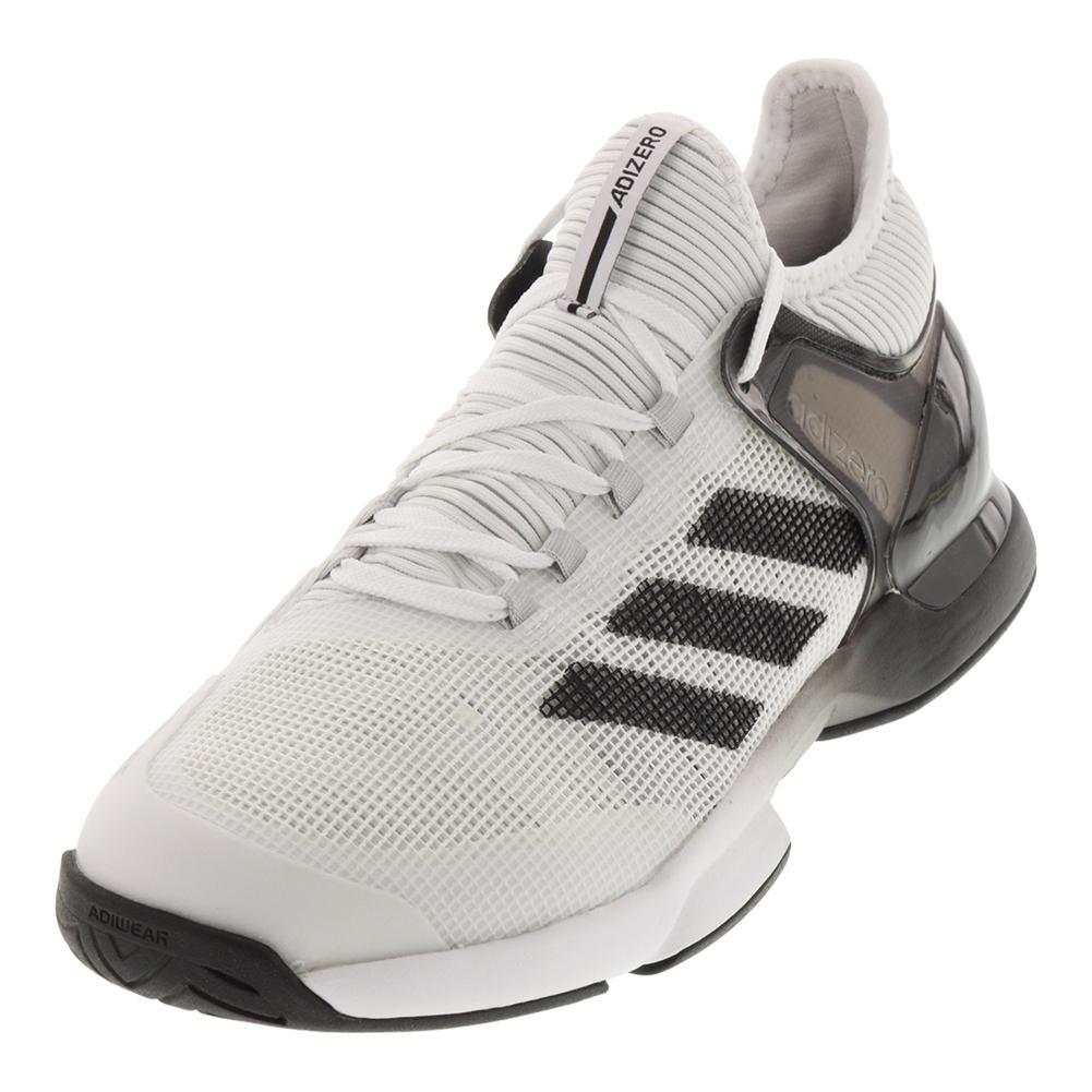 adidas men ` s adizero ubersonic turnschuhe in weiß, schwarz und kern -
