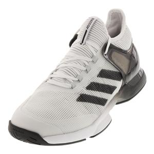 Men`s Adizero Ubersonic 2.0 Tennis Shoes White and Black