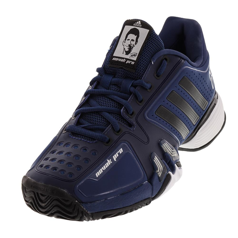 ADIDAS ADIDAS Men's Novak Pro Tennis Shoes Real Blue And Black