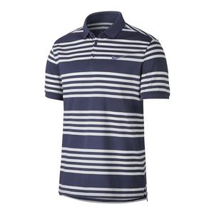 Men`s Court Dry Striped Tennis Polo