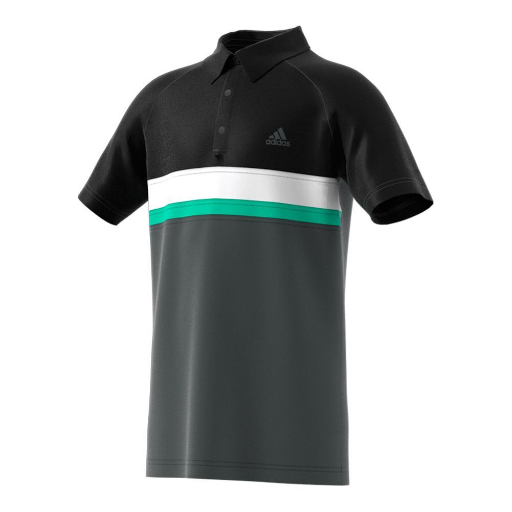 Boys ` Club Color Block Tennis Polo Dgh Solid Gray