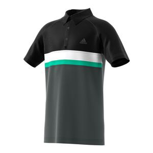 Boys` Club Color Block Tennis Polo DGH Solid Gray