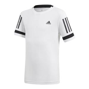 Boys` Club 3 Stripes Tennis Tee White