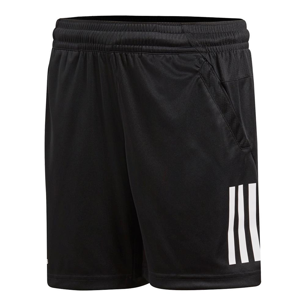 Boys ` 3 Stripes Club Tennis Short Black