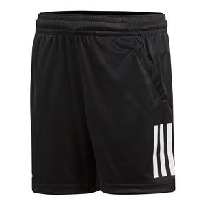 Boys` 3 Stripes Club Tennis Short Black