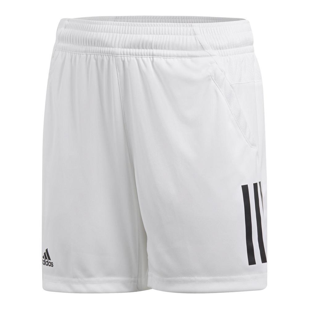 Boys ` 3 Stripes Club Tennis Short White