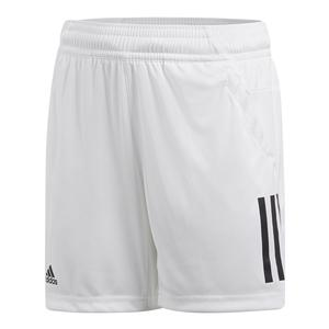 Boys` 3 Stripes Club Tennis Short White
