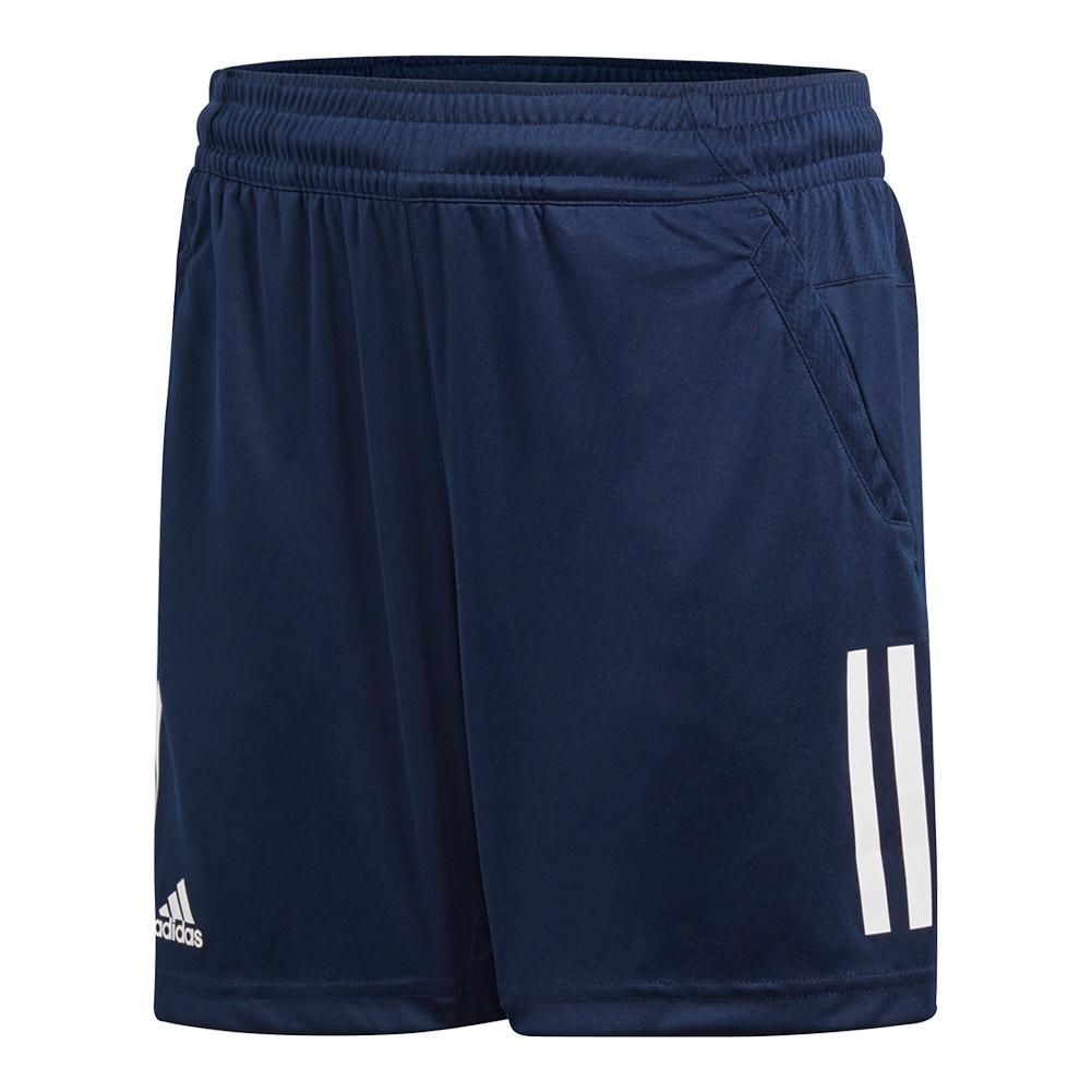 Boys ` 3 Stripes Club Tennis Short Collegiate Navy