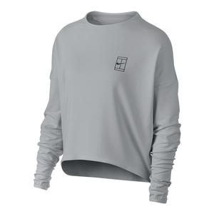 Women`s Court Dry Long Sleeve Tennis Top Vast Gray