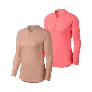 Women`s Court Pure Long Sleeve Half Zip Tennis Top