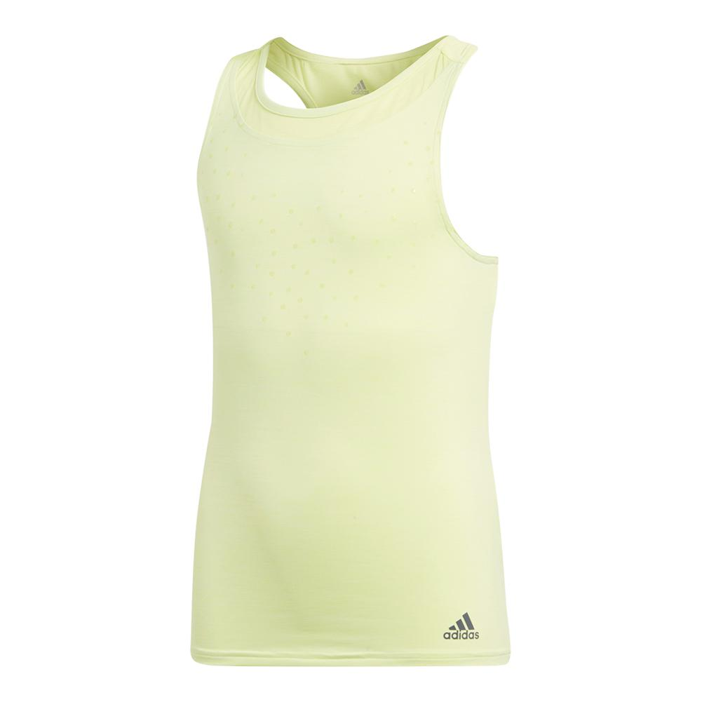 Girls ` Dotty Tennis Tank Semi Frozen Yellow
