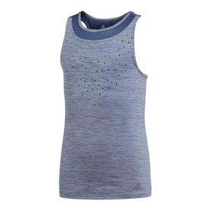 Girls` Dotty Tennis Tank Noble Indigo