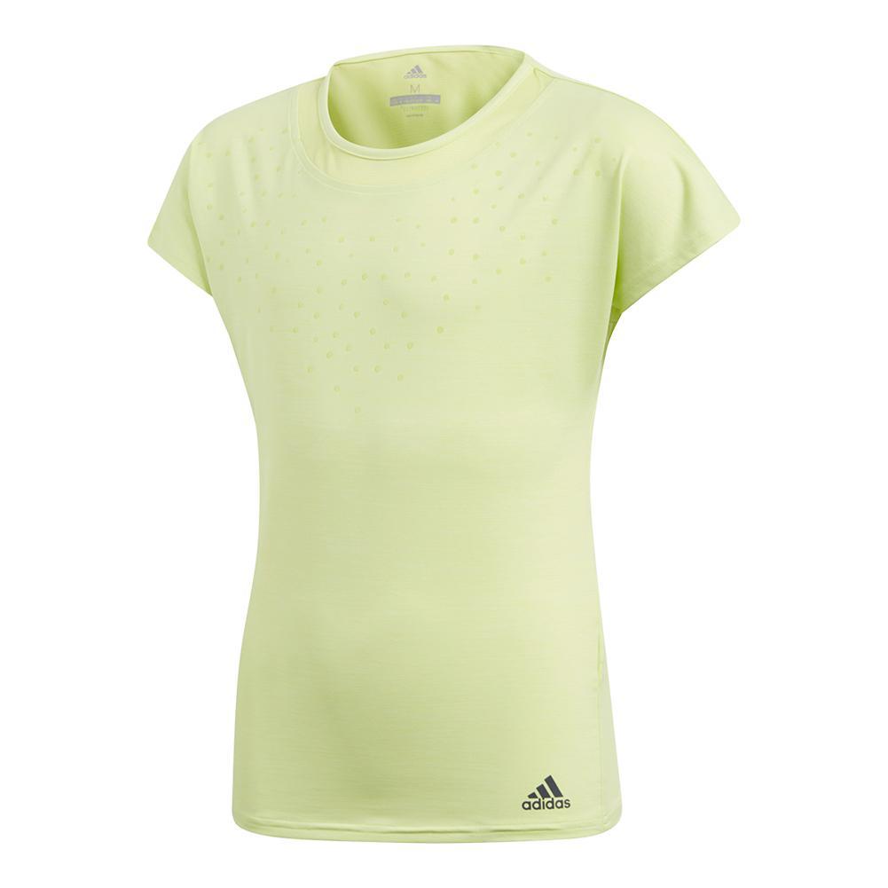 Girls ` Dotty Tennis Tee Semi Frozen Yellow