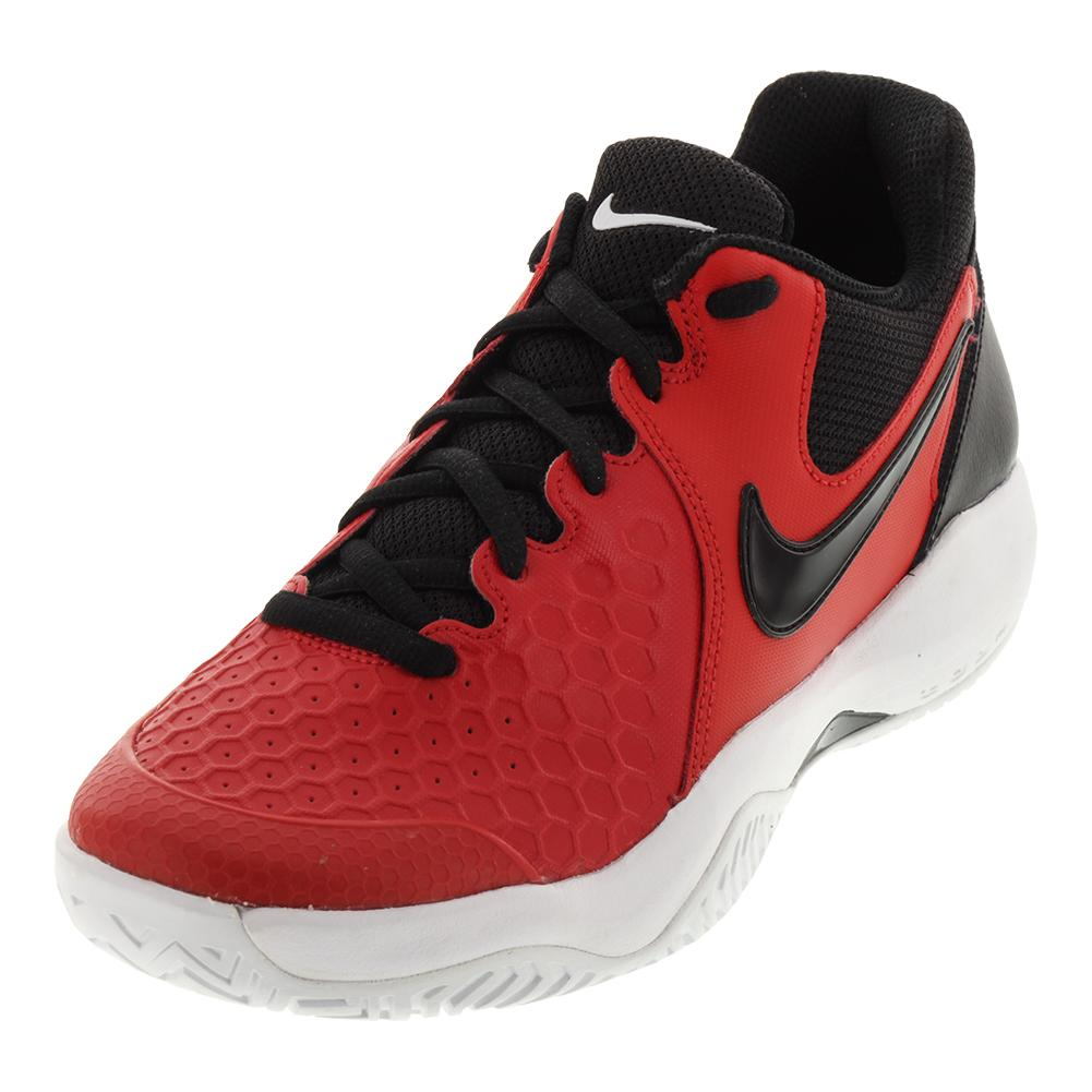 NIKE NIKE Men's Air Zoom Resistance Tennis Shoes University Red And Black