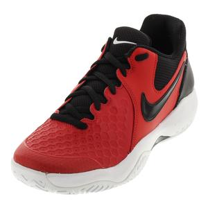 Men`s Air Zoom Resistance Tennis Shoes University Red and Black