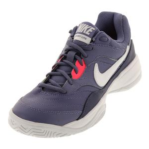 Women`s Court Lite Tennis Shoes Purple Slate and White
