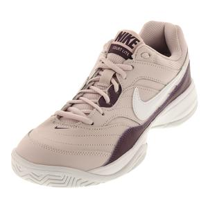 Women`s Court Lite Tennis Shoes Barely Rose and Pro Purple