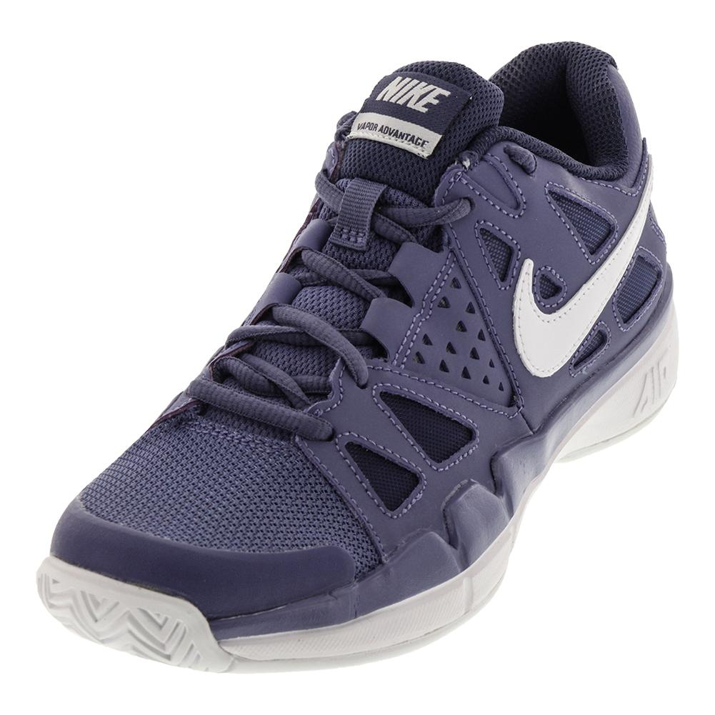 Women's Air Vapor Advantage Tennis Shoes Purple Slate And Blue Recall