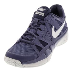 Women`s Air Vapor Advantage Tennis Shoes Purple Slate and Blue Recall