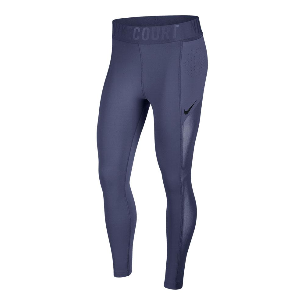 Women's Court Power Tennis Tights Blue Recall