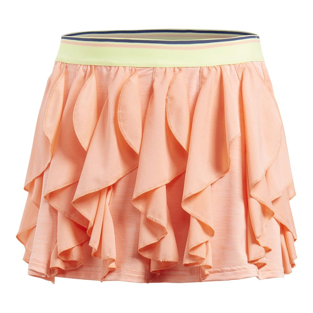 Girls ` Frilly Tennis Skort Chalk Coral