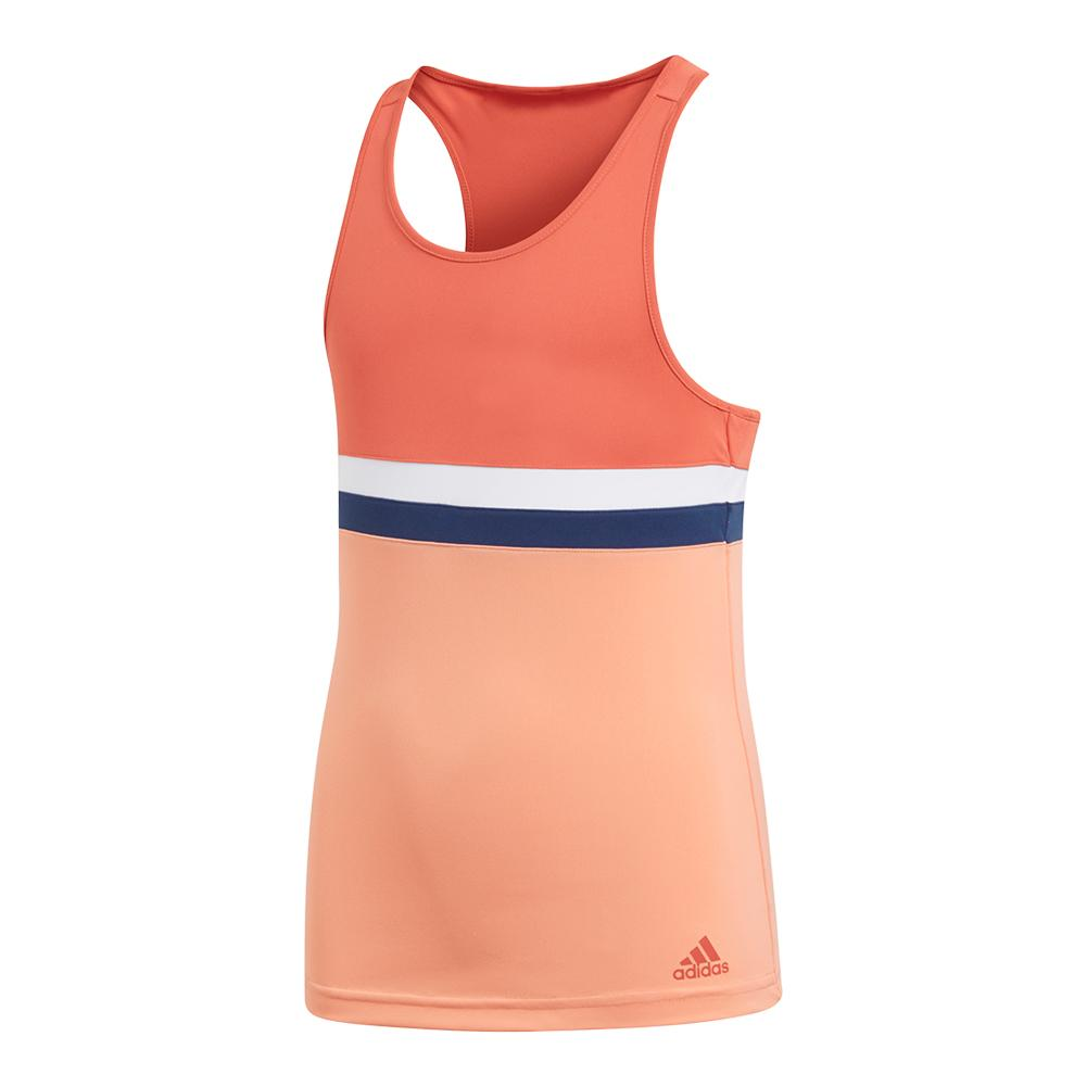 Girls ` Club Tennis Tank Trace Scarlet