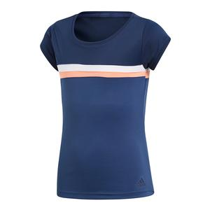 Girls` Club Tennis Tee Collegiate Navy