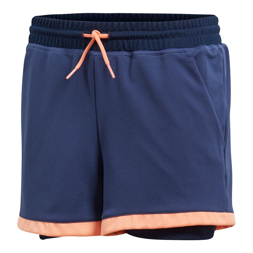 Girls ` Club Tennis Short Collegiate Navy