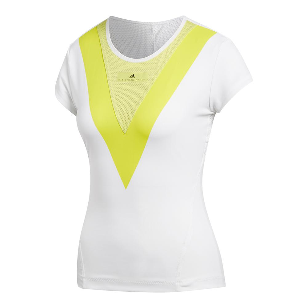 Women's Stella Mccartney Barricade Tennis Tee White And Aero Lime