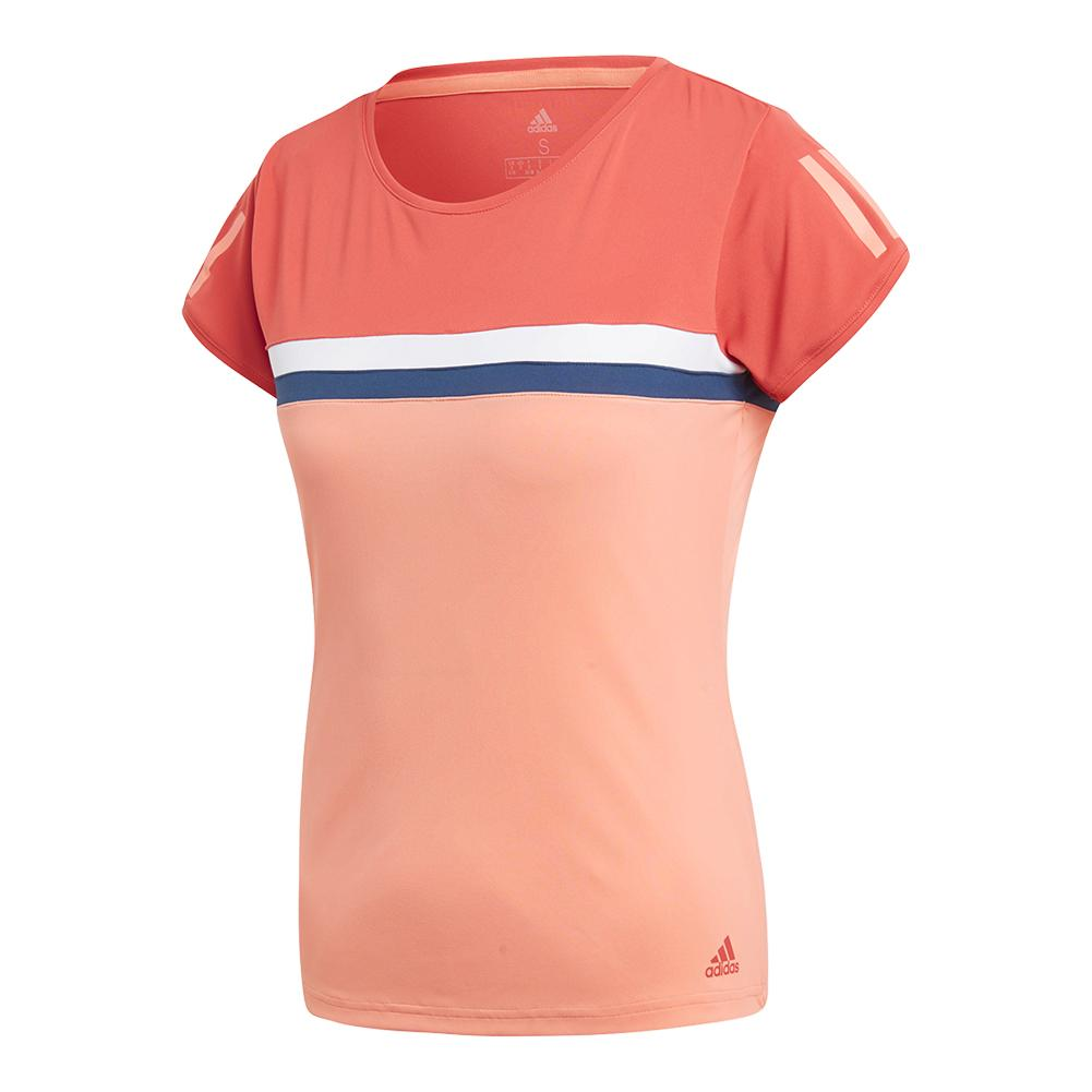 Women's Club Tennis Tee Trace Scarlet