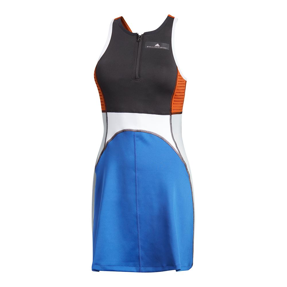 Women's Stella Mccartney Barricade Tennis Dress Black And Bold Blue