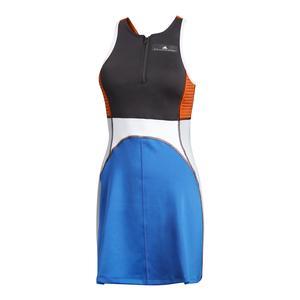 Women`s Stella McCartney Barricade Tennis Dress Black and Bold Blue