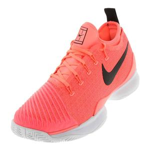 Men`s Air Zoom Ultra React Tennis Shoes Lava Glow and Black