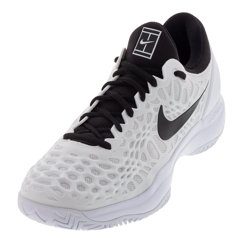 1a48305451e858 Men`s Zoom Cage 3 Tennis Shoes White and Black