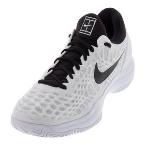 Men`s Zoom Cage 3 Tennis Shoes White and Black
