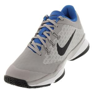 Men`s Air Zoom Ultra Tennis Shoes Atmosphere Gray and Black