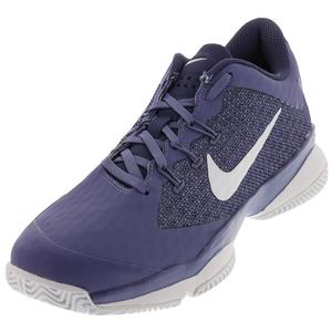 Women`s Air Zoom Ultra Tennis Shoes Purple Slate and White