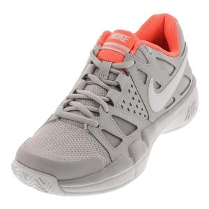 Women`s Air Vapor Advantage Tennis Shoes Vast Gray and White