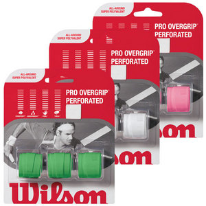 WILSON PRO OVERGRIPS PERFORATED 3 PACK