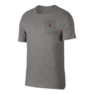 Men`s Court Heritage Pocket Tennis Tee Dark Gray Heather