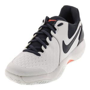 Men`s Air Zoom Resistance Tennis Shoes White and Thunder Blue
