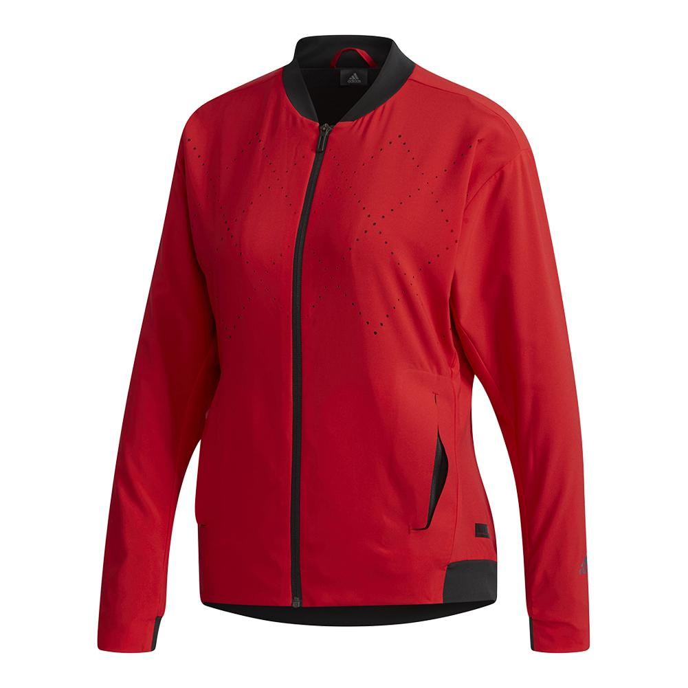 Women's Barricade Tennis Jacket Scarlet