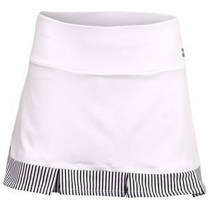 Women`s Uptown Tennis Skirt White and Stripe
