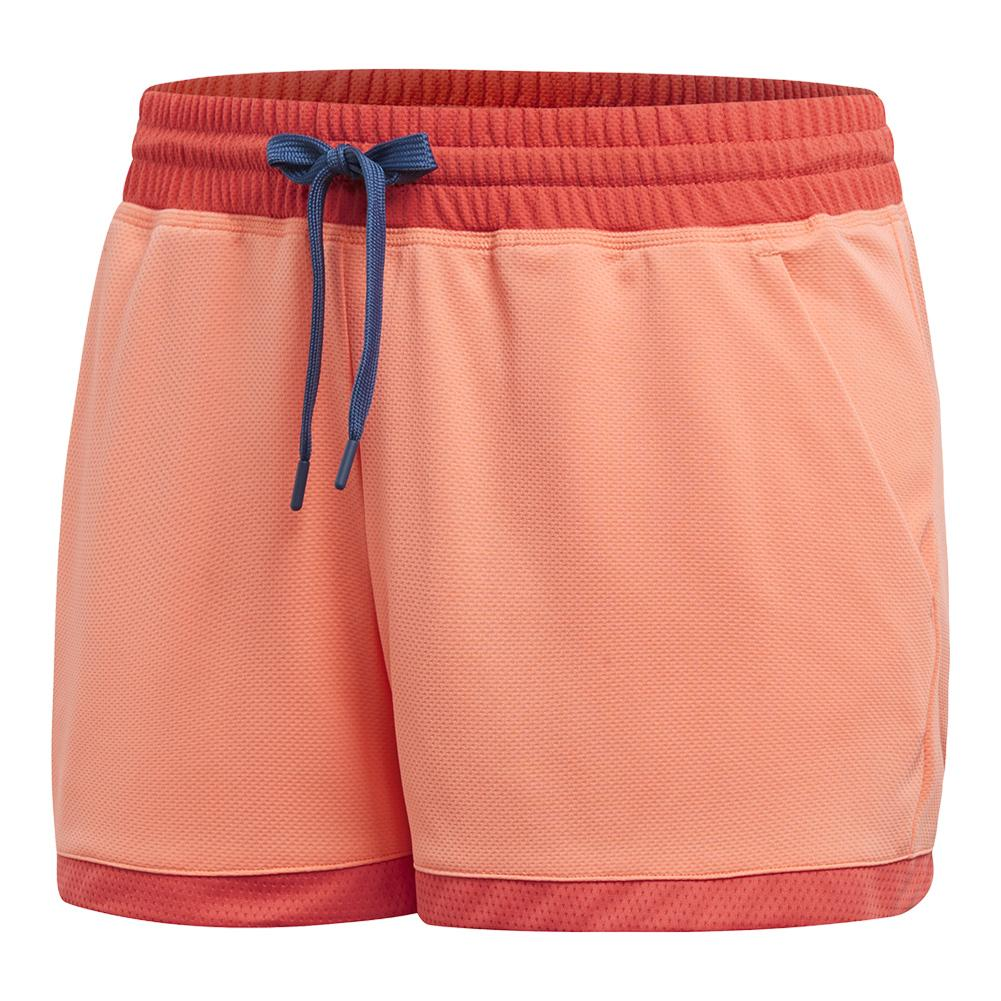 Women's Club Tennis Short Chalk Coral