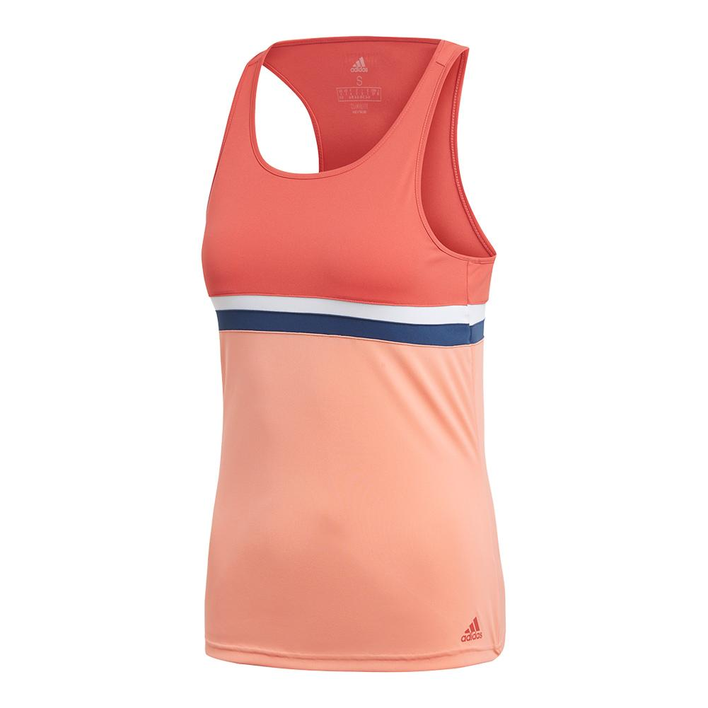 Women's Club Tennis Tank Trace Scarlet
