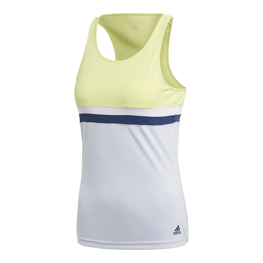 Women's Club Tennis Tank Semi Frozen Yellow