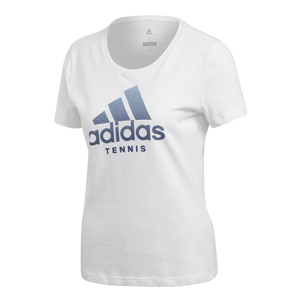 Women's Logo Tennis Tee White