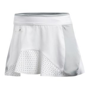Women`s Stella McCartney Barricade Tennis Skort White and Aero Lime
