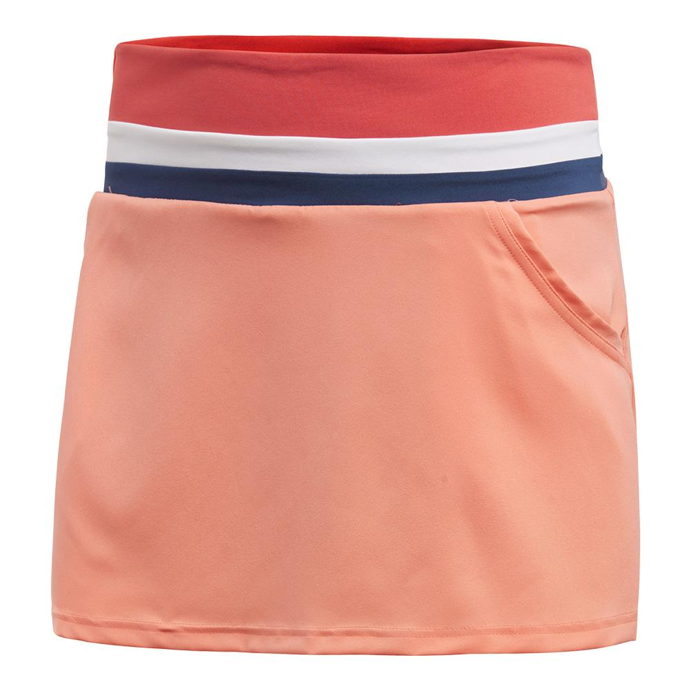 Women's Club Tennis Skort Chalk Coral